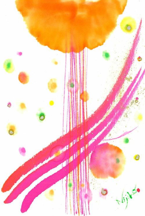 夢ロゴアート「春の賑やかな祝福」