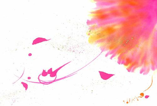 夢ロゴアート「桜色の光の中へ」