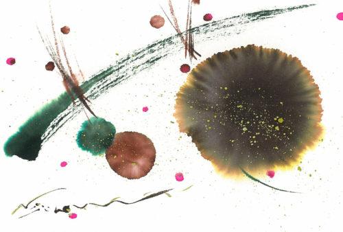 夢ロゴアート「チョコレート色の花さく」