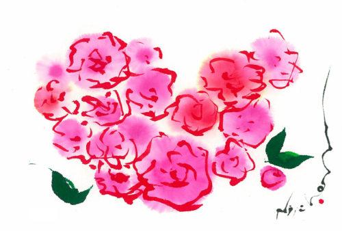 夢ロゴアート「LOVE ─ ばらの花をあなたに ─」