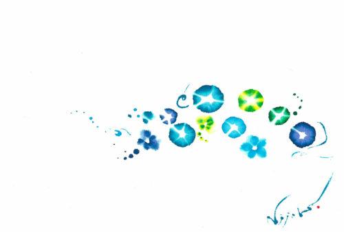 夢ロゴアート「朝顔、小さな花」