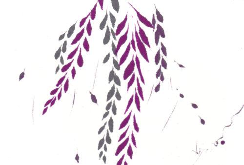 夢ロゴアート「藤の花」