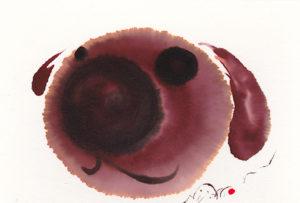 夢ロゴアート「鼻でかわんこ」