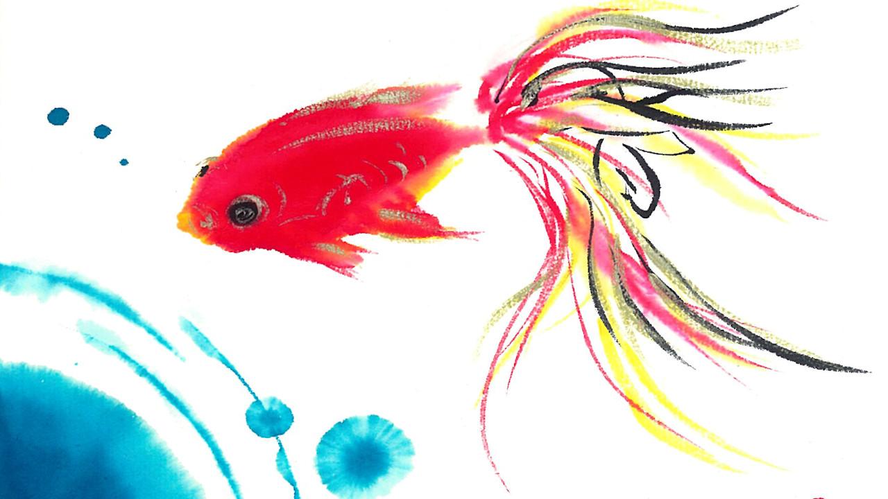 夢ロゴアート「金魚」