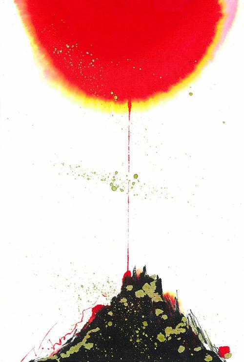 夢ロゴアート「吉 — 黒富士 —」