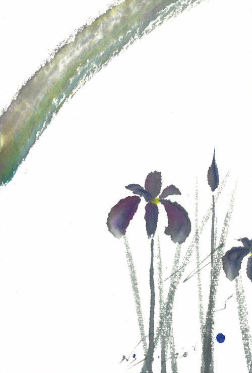 夢ロゴアート「よい便り — 文目(iris) —」
