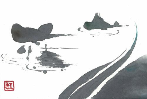夢ロゴアート「枯山水」