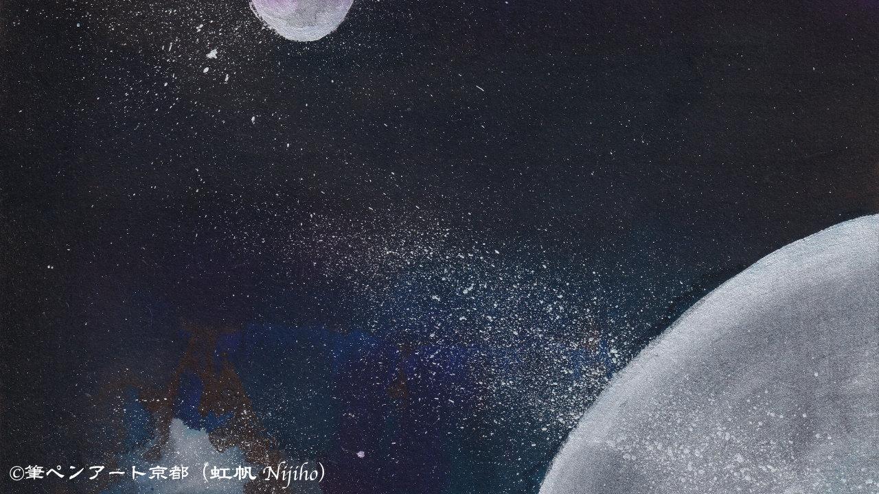 第12回151人展ファイナル出展作品「好きな色の宇宙」 (部分)@galleryそら