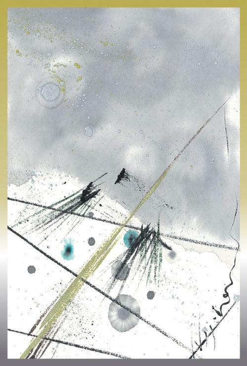 第14回be京都ポストカードコレクション出展作品「クリスマスツリー/雪」