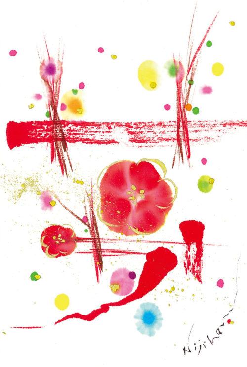 第14回be京都ポストカードコレクション出展作品「Y-UME(夢/梅)さく」