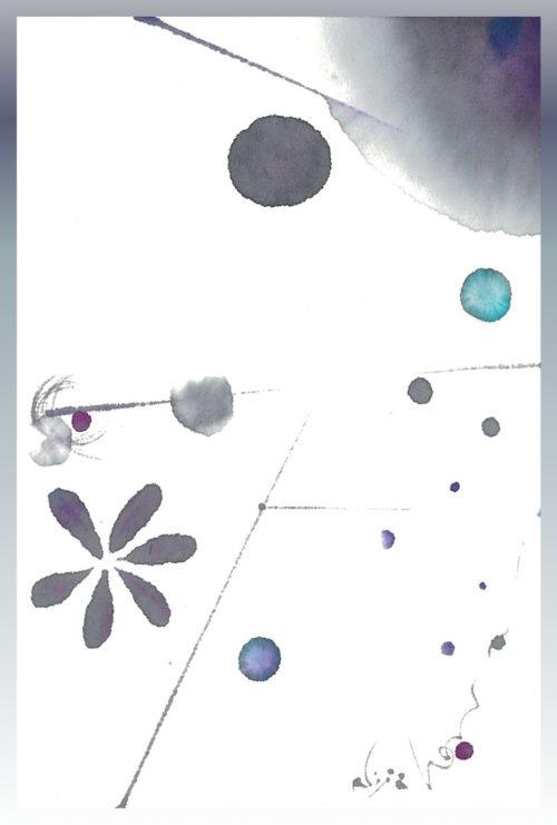 第16回be京都ポストカードコレクション出展作品「六花」六・花