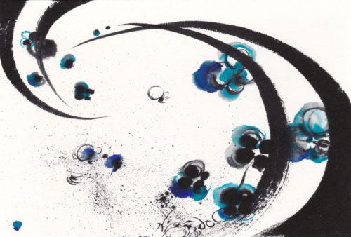 夢ロゴアート「月 — 月見草 —」