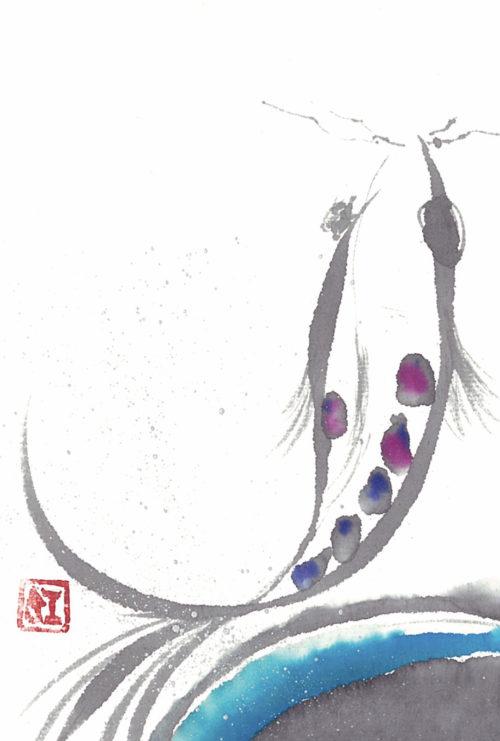 第19回be京都ポストカードコレクション出展作品「鯉」