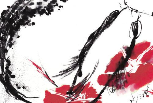 第21回be京都ポストカードコレクション出展作品「朝顔と鯉」