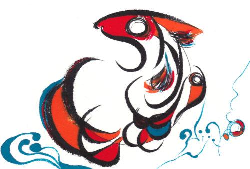 第21回be京都ポストカードコレクション出展作品「金魚」